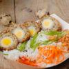 Scottish eggs cu garnitura de orez 250g